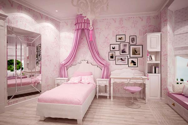 фото спальня для девочки с балдахином