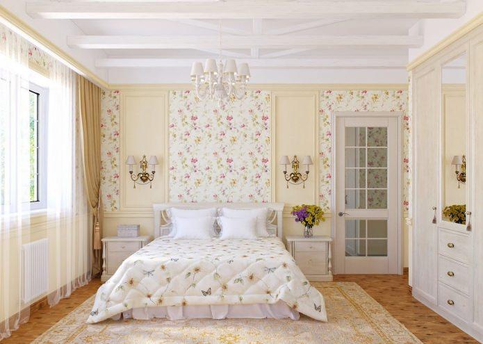 фото Нежный интерьер прованской спальни