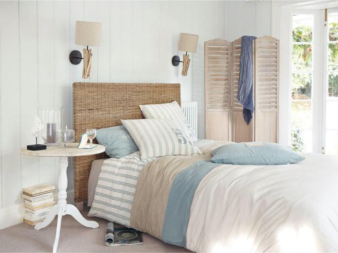 фото Светлый интерьер спальни в стиле прованс