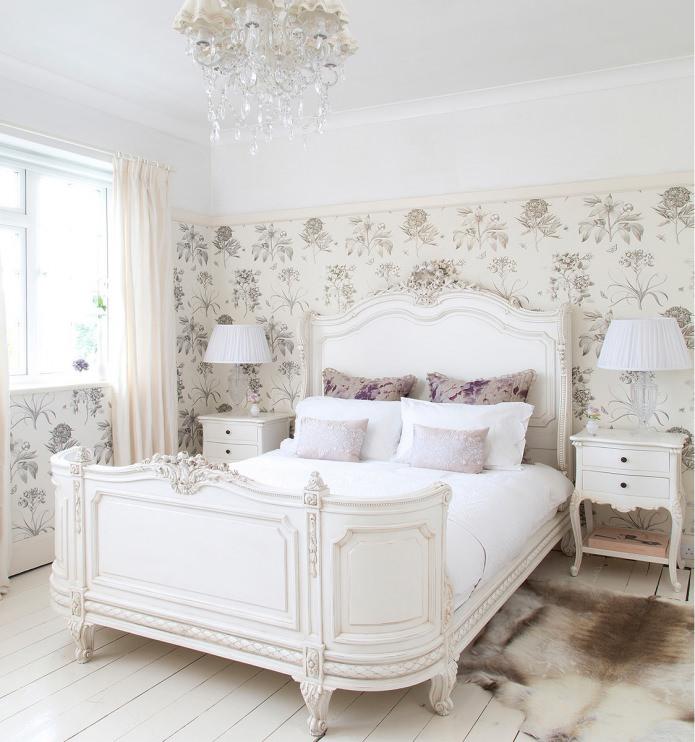 фото Интерьер спальни в стиле прованс