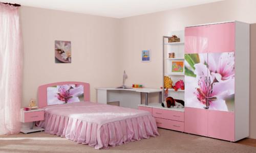 фото Идея интерьера в розовых тонах