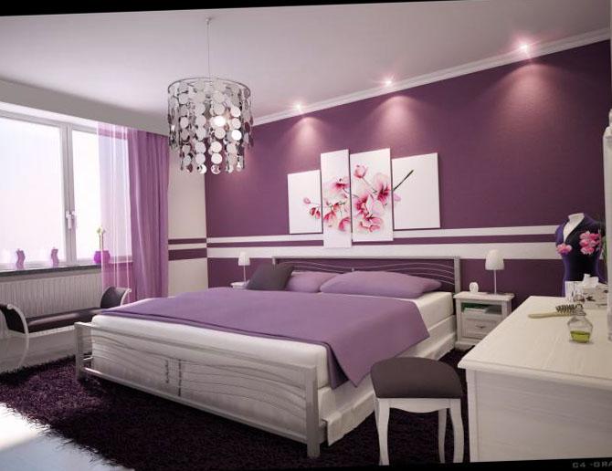 Фото лиловой спальни