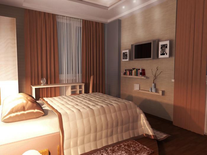 фото Вариант оформления спальни 9 кв м