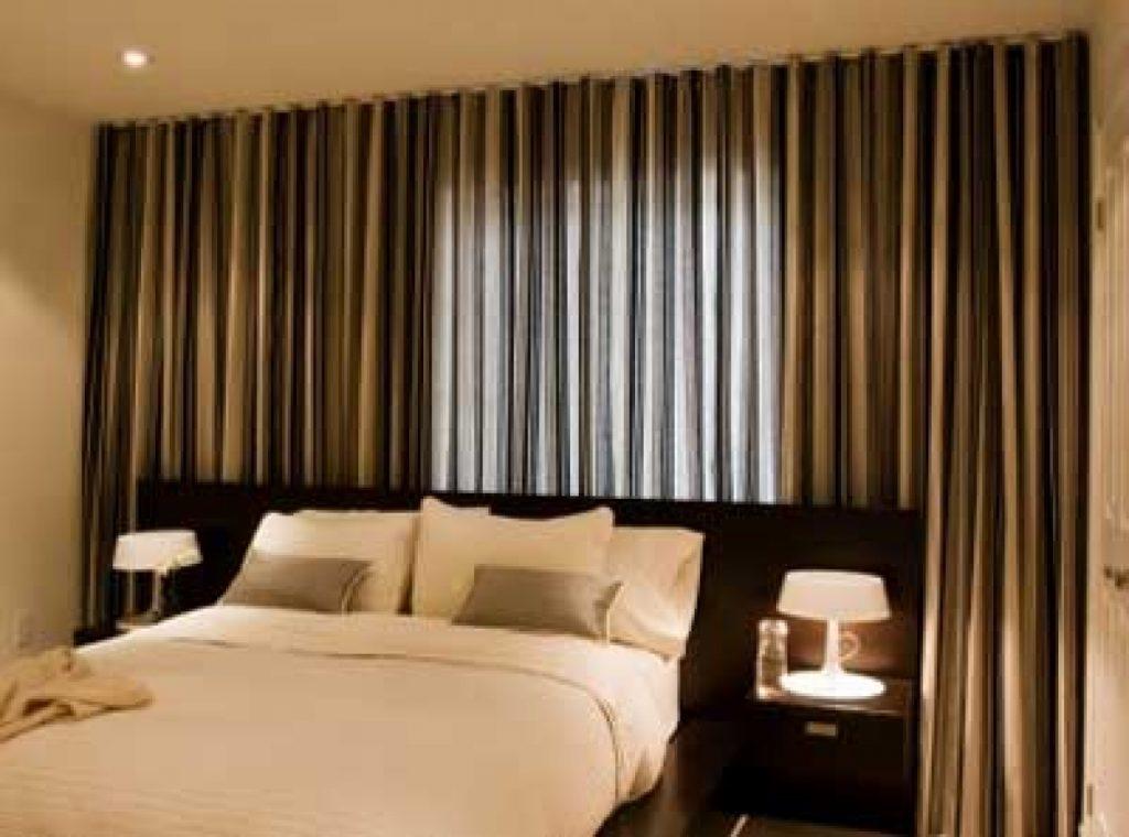 Фото Дизайн коричневых штор для спальни