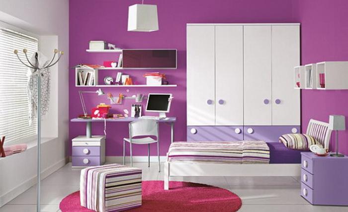 фото рабочей зоны в спальне для девушки