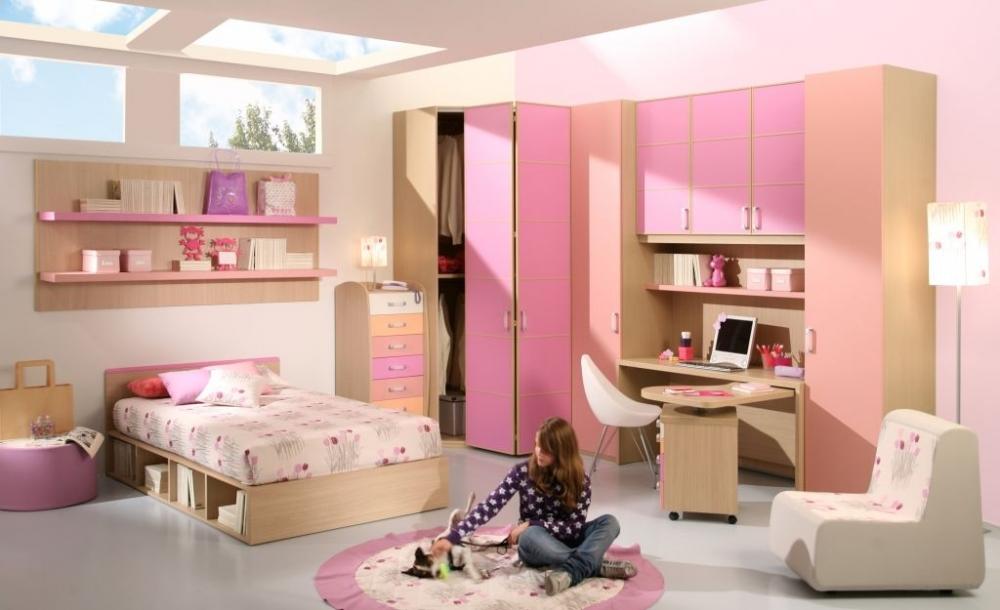 фото Идея оформления большой девичьей спальни