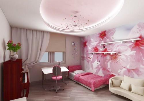 Фото Розовая спальня для девушки