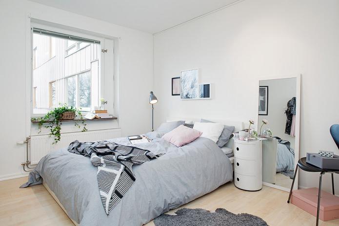 фото Элегантная спальня в нейтральных тонах