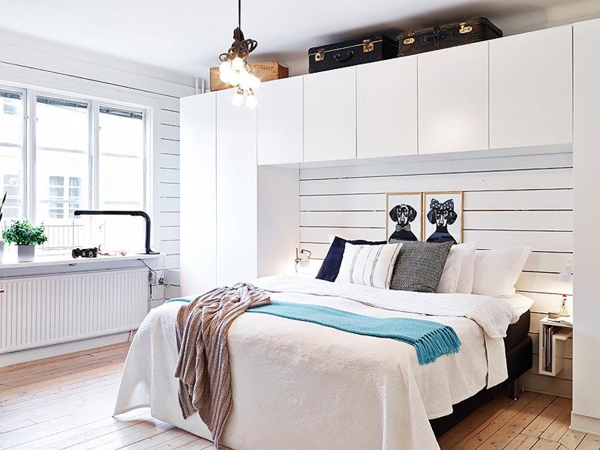 фото Спальня в скандинавском стиле, пример 2