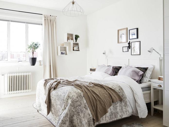 фото Спальня в скандинавском стиле