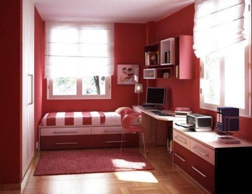 Фото спальни в ярких тонах