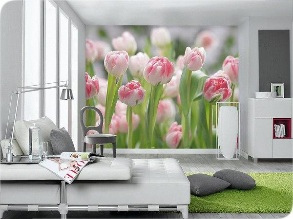 комбинированные обои фото с розами