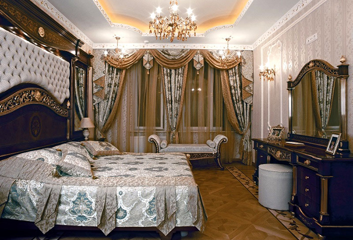 фото Спальня в классическом стиле, пример 9
