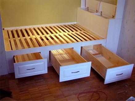 фото Кровать подиум с ящиками