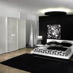 magnificent-interior-design-master-apartment-bedroom-ideas-with-high-gloss-white-wardrobe-using-three-sliding-doors-and-fashionable-white-double-bed-combine-black-white-floral-pattern-bed-linen-1120x796