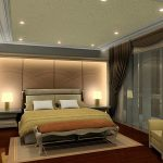modern-white-bedroom-lamps-paired-with-brown-window-curtains-plus-tangerine-bedding-set