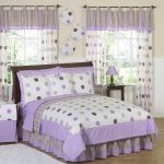 purple-polka-dot-bedding-for-toddler-bed-combined-with-striped-pattern-valance-combined-laundry-basket-with-purple-infant-bedding-also-purple-and-green-bedspreads
