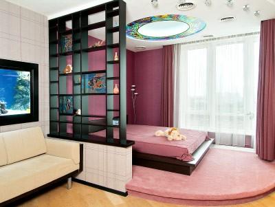 фото Спальня и гостиная в одной комнате: дизайн 2017