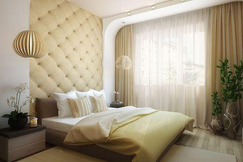 Фото Тюль для спальни - живой пример