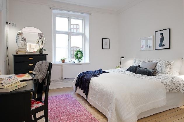 фото Элегантная спальня в пастельных тонах