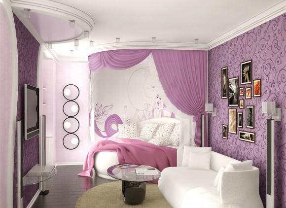 Фото гостевой зонй в обычной девичьей спальне