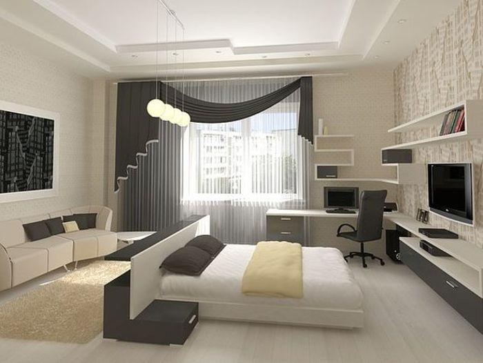 Фото Дизайн маленькой спальни в светлых тонах