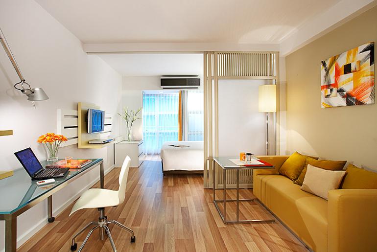 фото Спальня и гостиная в одной комнате
