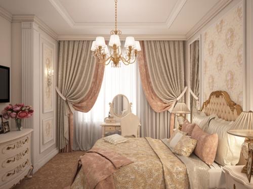 Фото Комбинированные шторы вспальню
