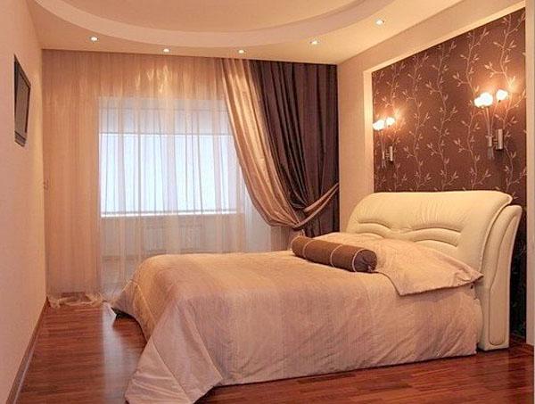 фото Дизайн спальни в теплых тонах