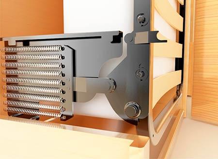 Подъемный механизм кровати с витыми пружинами