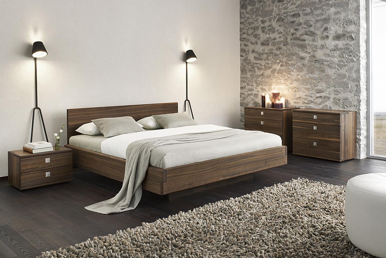 спальный гарнитур в интерьере комнаты в стиле лофт