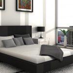 черно-серо-белый интерьер спальни