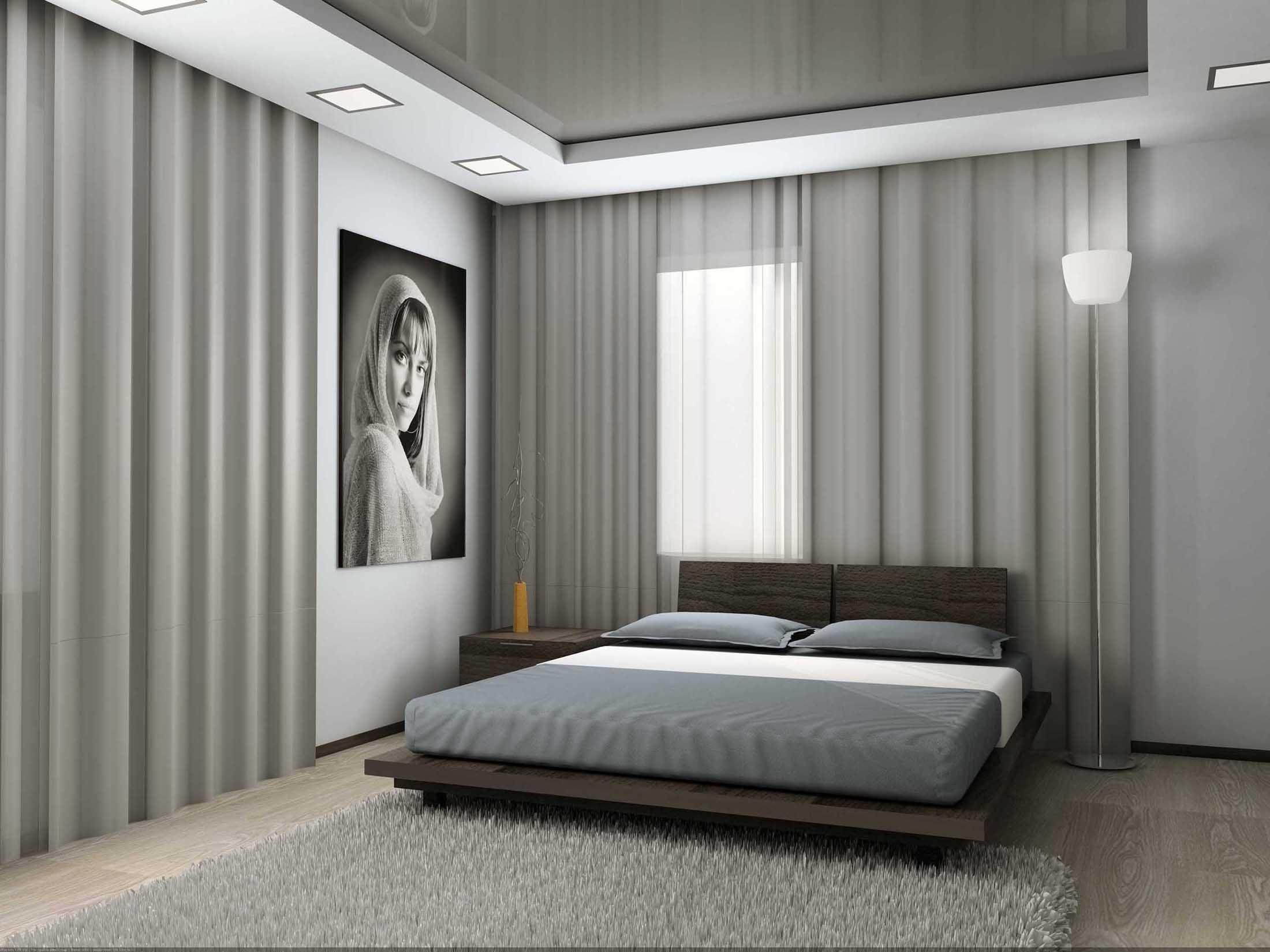 черно-белый постер в стиле минимализм в интерьере комнаты