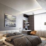 коричнев0-черный дизайн спальни