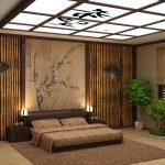 этнический японский стиль спальни