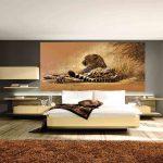 фотообои над кроватью - леопард