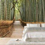 фотообои над кроватью - бамбуковый лес