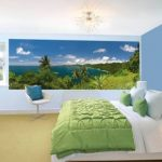 фотообои над кроватью - джунгли