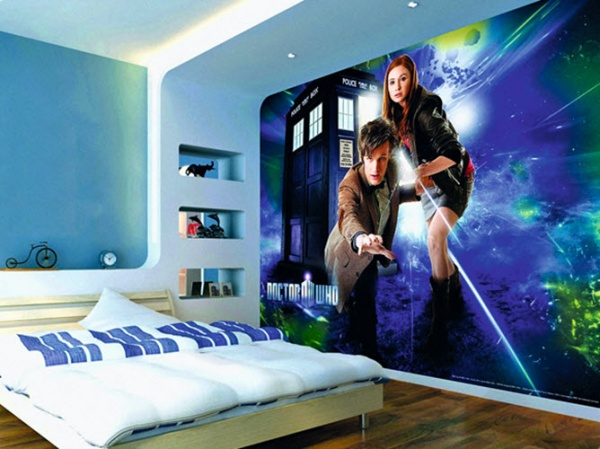 фотообои над кроватью фантастические герои