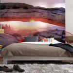 фотообои над кроватью каньон
