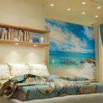 фотообои над кроватью - пляж
