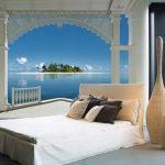 фотообои над кроватью вид с балкона