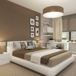 комната в стиле минимализм бело-коричневых тонов