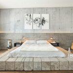 кровать-подиум в стиле минимализм