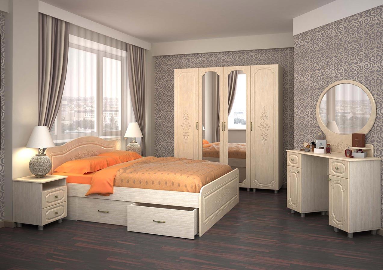 светлая мебель для спальни в интерьере