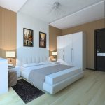 небольшая спальня в стиле минимализм светлых оттенков