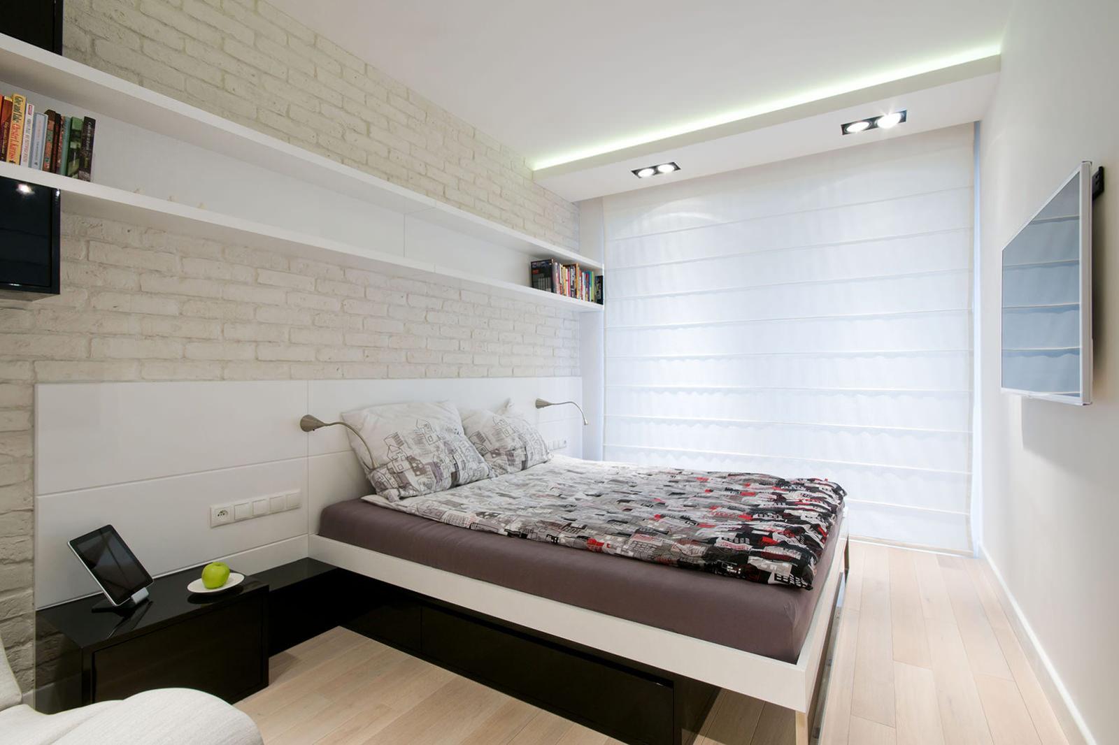 оформление потолка и стен в стиле минимализм