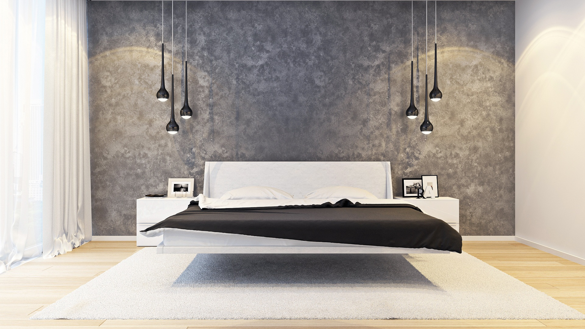 освещение прикроватное в стиле минимализм в интерьере спальни