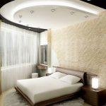 спальня с полукруглым потолком