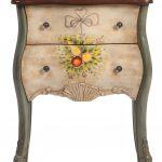 прикроватный столик деревянная росписная